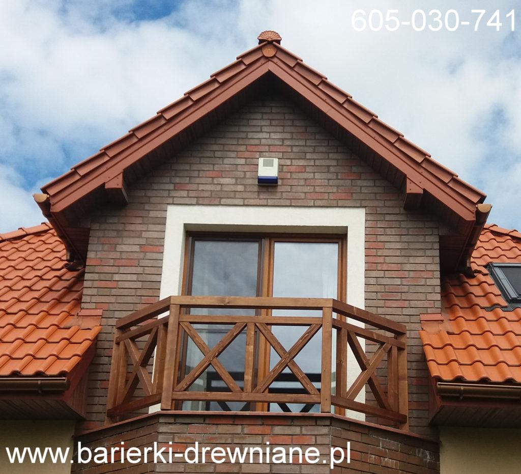 Barierka drewniana na balkon