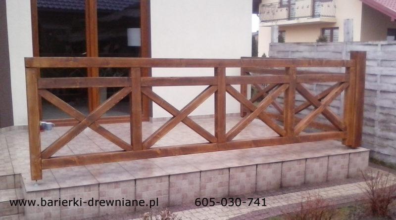 Barierki Drewniane Na Balkon