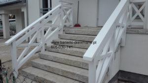 Balustrada drewniana na schody