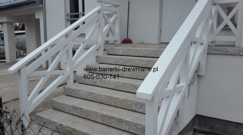 Balustrada drewniana schodowa