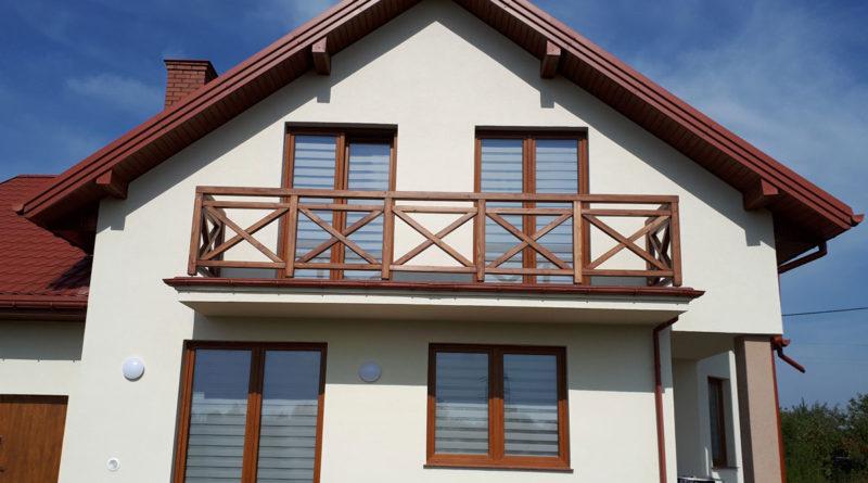 Balustrady balkonowe.