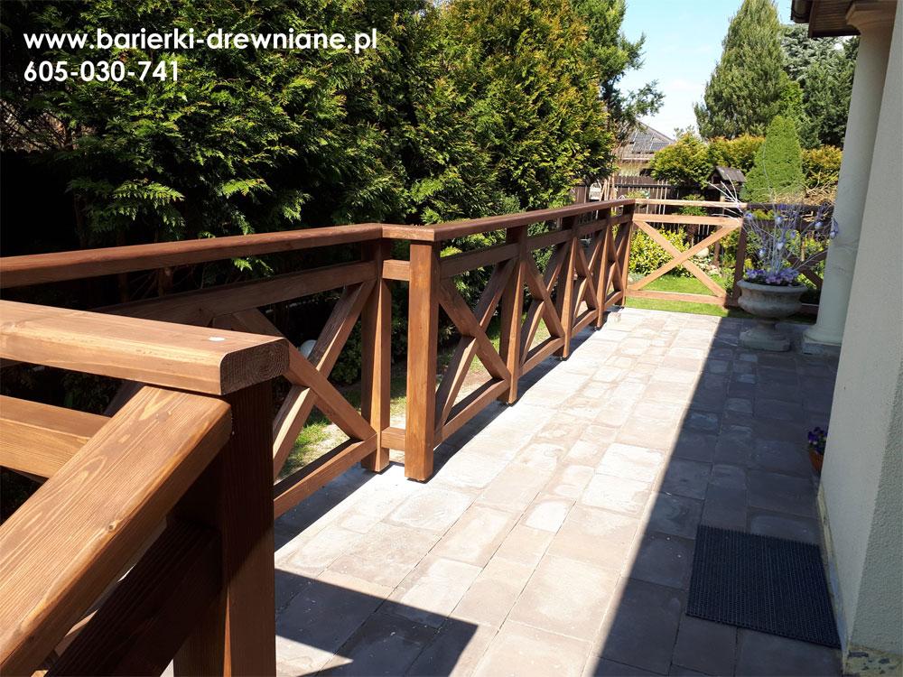 Barierki Tarasowe Schody Drewniane Zewnętrzne Konstrukcje