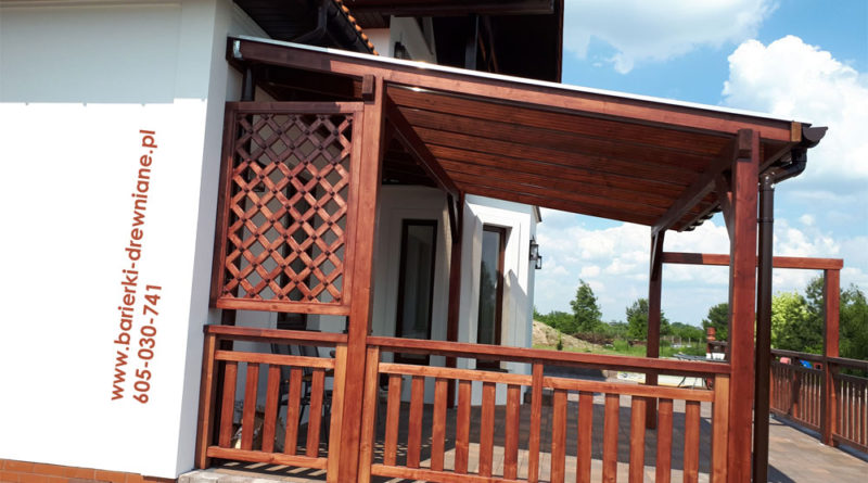 Balustrada pionowa + zadaszenie