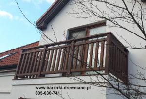 Balustrada drewniana na balkon