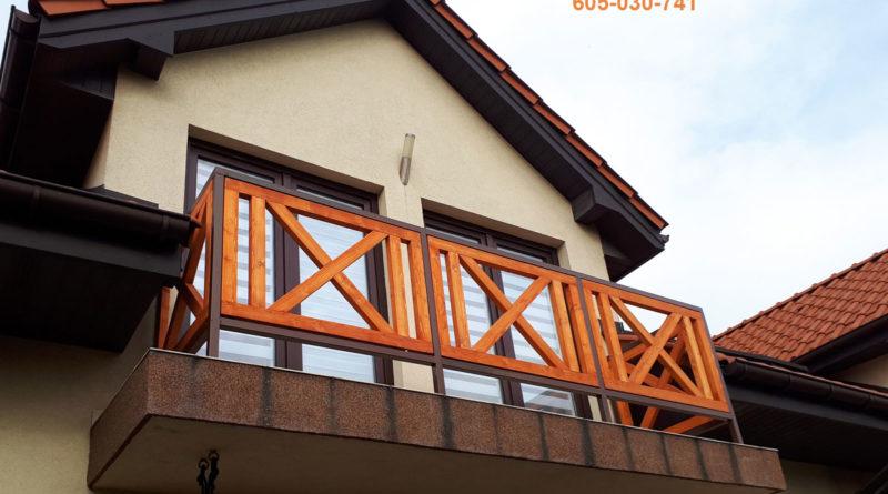Balustrad drewniano-stalowa