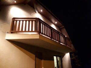Balkonowa balustrada pionowa
