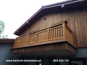 Barierka pionowa wraz z elewacją drewnianą